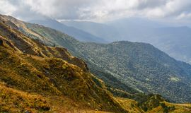 Poon小山,尼泊尔风景视图  库存图片