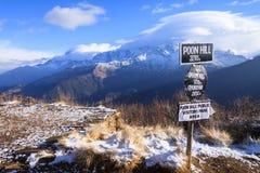 Poon小山,尼泊尔 库存图片