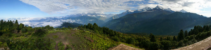 poon Непала холма стоковые фото