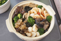 Poon Choi Cantonese Big Feast Bowl Closeup Royalty Free Stock Photos