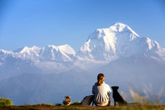 Poon Hill, Himalayas royalty free stock images