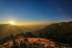 Poon Hill i Nepal Arkivfoto