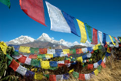Poon Hill View of Annapurna Range Stock Image