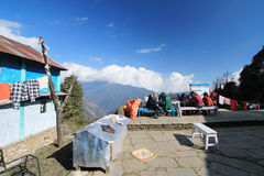 Poon Hill view in Nepal royalty free stock photo