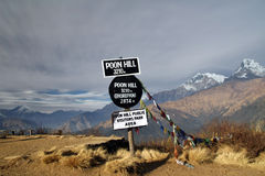 Poon Hill view point Royalty Free Stock Images