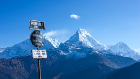 Poon Hill view point. In Ghorepani, Nepal Royalty Free Stock Photo