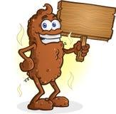 Poop Cartoon Character Standing Thumbs Up Stock Photo