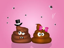 Poop couple in love Royalty Free Stock Image