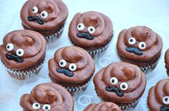 Poop Emoji Cupcakes Royalty Free Stock Photos