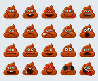 Poop emoticons smileys icons Royalty Free Stock Photography
