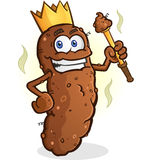Poop King Cartoon Character Royalty Free Stock Images