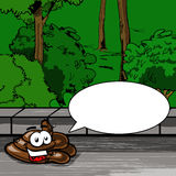 Poop with speech bubble Stock Photography