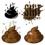 Poop in variants stock illustration
