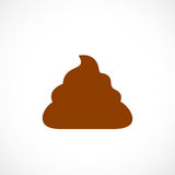 Poop vector icon. On white background Royalty Free Stock Photos