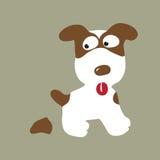 pooping的狗 免版税图库摄影