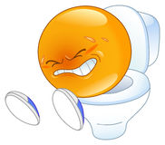 Pooping emoticon Royalty Free Stock Photo