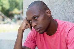 Poor african american man Royalty Free Stock Images
