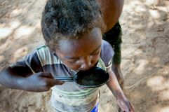 Poor african child, Madagascar. Africa Royalty Free Stock Images