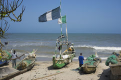 Poor African fishermens Stock Photography