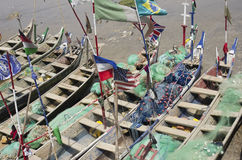 Poor African fishing boats Royalty Free Stock Photos