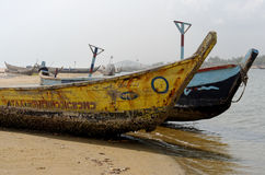 Poor African fishing boats Royalty Free Stock Photo