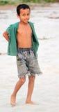 Poor Bangladeshi schoolboy stock photo