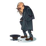 Poor beggar. Crisis problem depression job work unemployment Stock Photo