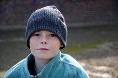 Free Poor Beggar Boy With To Big Clothes Stock Photos - 217249193