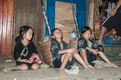 Poor Black Hmong Kids Stock Images