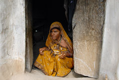 Poor Blind Woman Stock Photo