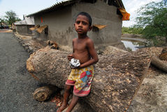 The Poor Boy. July 16,2012 chunakhali,West Bengal,India,Asia- A malnourished child at the remote village of West Bengal -India Royalty Free Stock Image