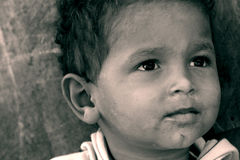 Poor boy in egypt Royalty Free Stock Photo