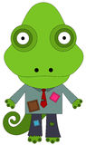 Poor business. A chameleon wearing a dirty business man's attire Royalty Free Stock Photography