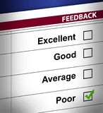 Poor business feedback illustration. Design Stock Photography