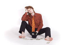 Poor businessman Stock Photo