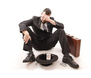 Poor businessman Stock Photo