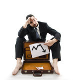 Poor businessman Stock Images