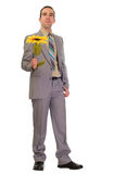 Poor Businessman Gives Fake Flower Stock Photos