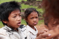 Poor cambodian kids Royalty Free Stock Images