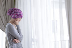 Poor cancer woman Stock Photography