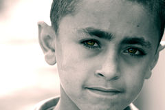 Poor child in egypt. Poor boy in cairo in egypt royalty free stock photo