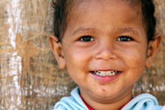 smiling poor child in egypt Royalty Free Stock Photos