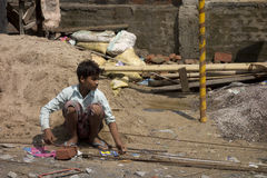 Poor child indian labour Stock Images