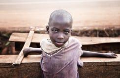 Schoolgirl near Jinja in Uganda. Poor child at school in a village near Jinja in Uganda, Africa stock images