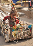 Poor child in the streets of Jaipur. Royalty Free Stock Image