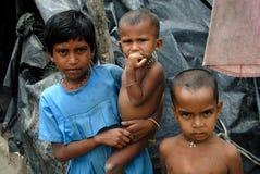 Poor Children Stock Photography