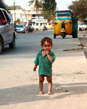 Poor Children in India. Powerful photo useful for illustration of the plight of India's children who live in poverty Royalty Free Stock Images