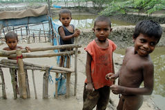 Poor Children in India Stock Image