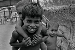 Poor Children in India Royalty Free Stock Photography