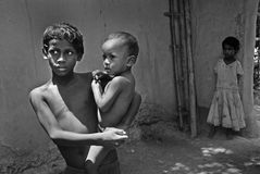 Poor Children in India Stock Image